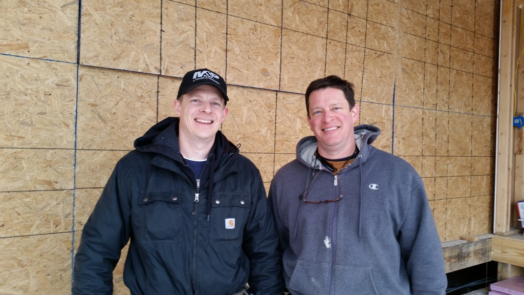 Darek and Shawn on a cold day at the jobsite.